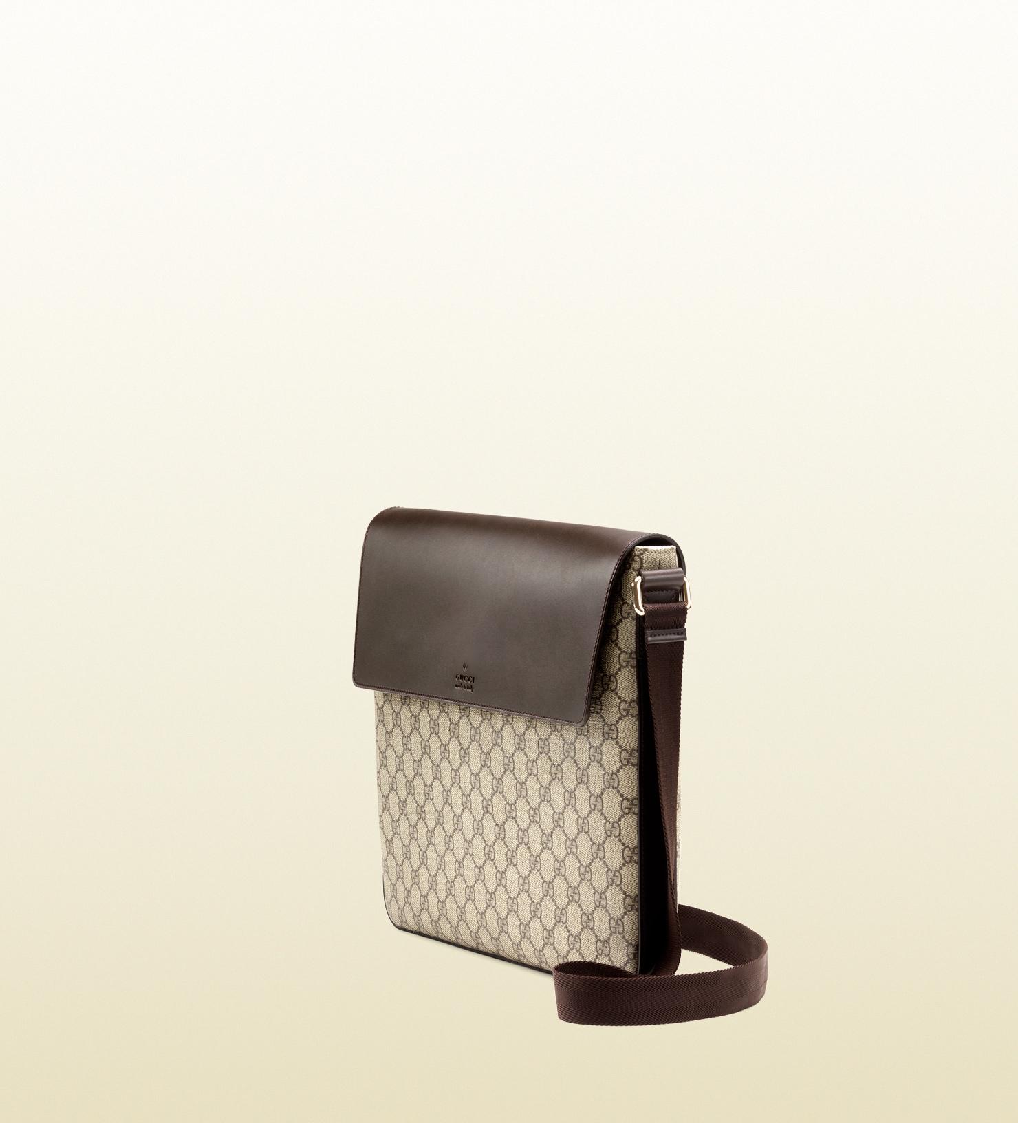 72b3cecd61831 Gucci Gg Supreme Canvas Messenger Bag in Black for Men - Lyst