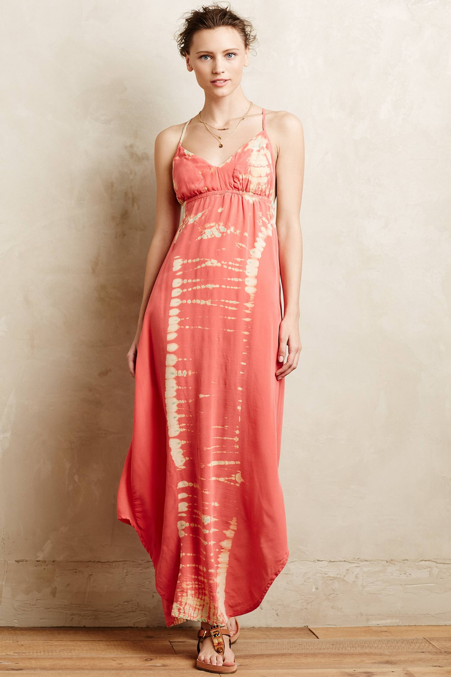 Gypsy 05 Viha Tie-dye Maxi Dress in Pink | Lyst