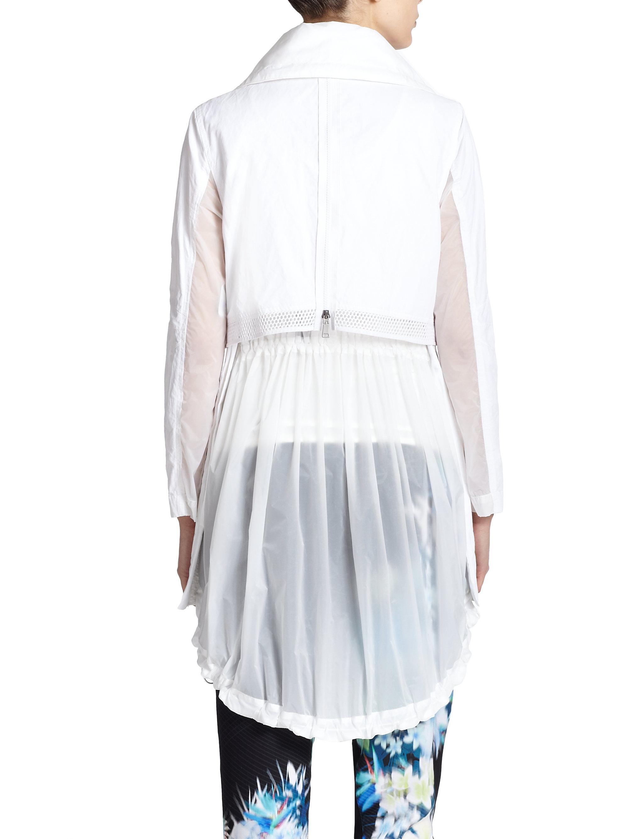 White dress coat - Elie Tahari Leia Coat In White Lyst