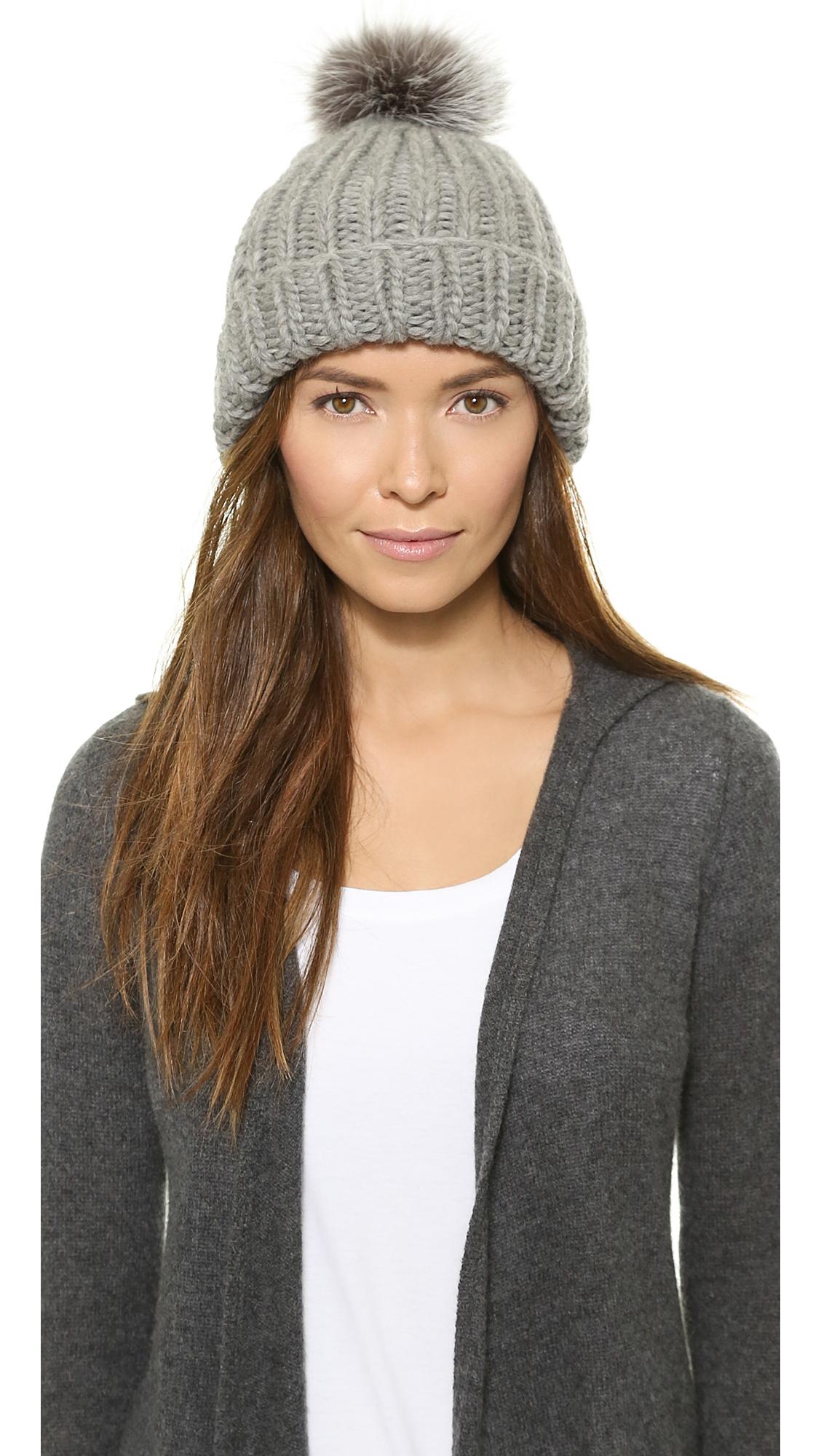 Lyst - Eugenia Kim Rain Pom Pom Hat - Black in Gray f4d0a402a72