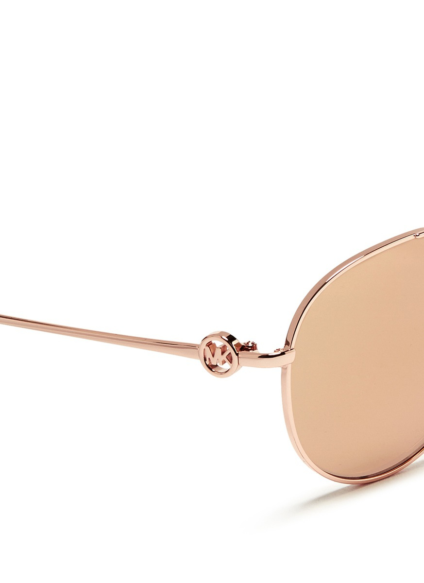 Lyst   Michael Kors U0027zanzibaru0027 Acetate Top Bar Metal Aviator ...