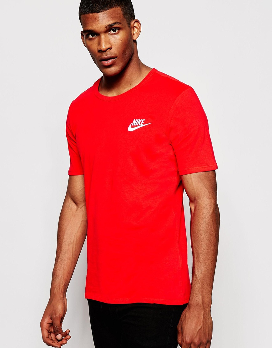 nike shox pas cher pour les hommes - Nike Futura T-shirt 644315-657 in Red for Men | Lyst
