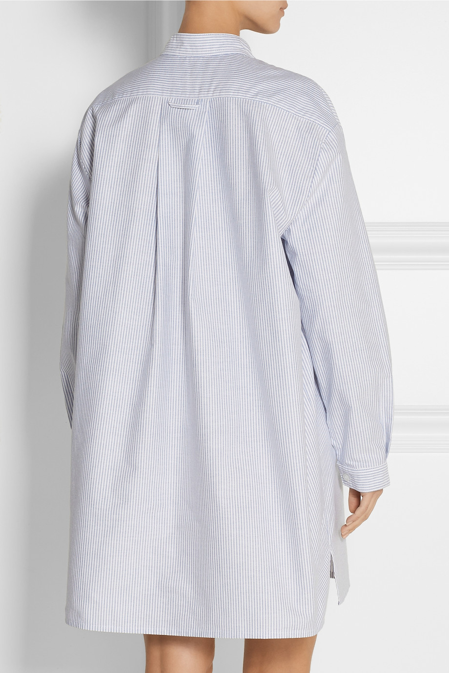 Lyst - The Sleep Shirt Long Striped Cotton Oxford Nightshirt in Blue 9c7939f27