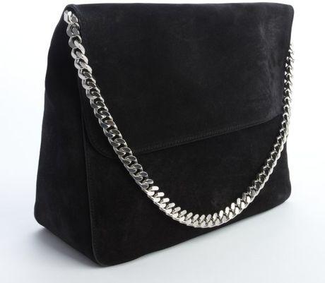 celine black suede handbag