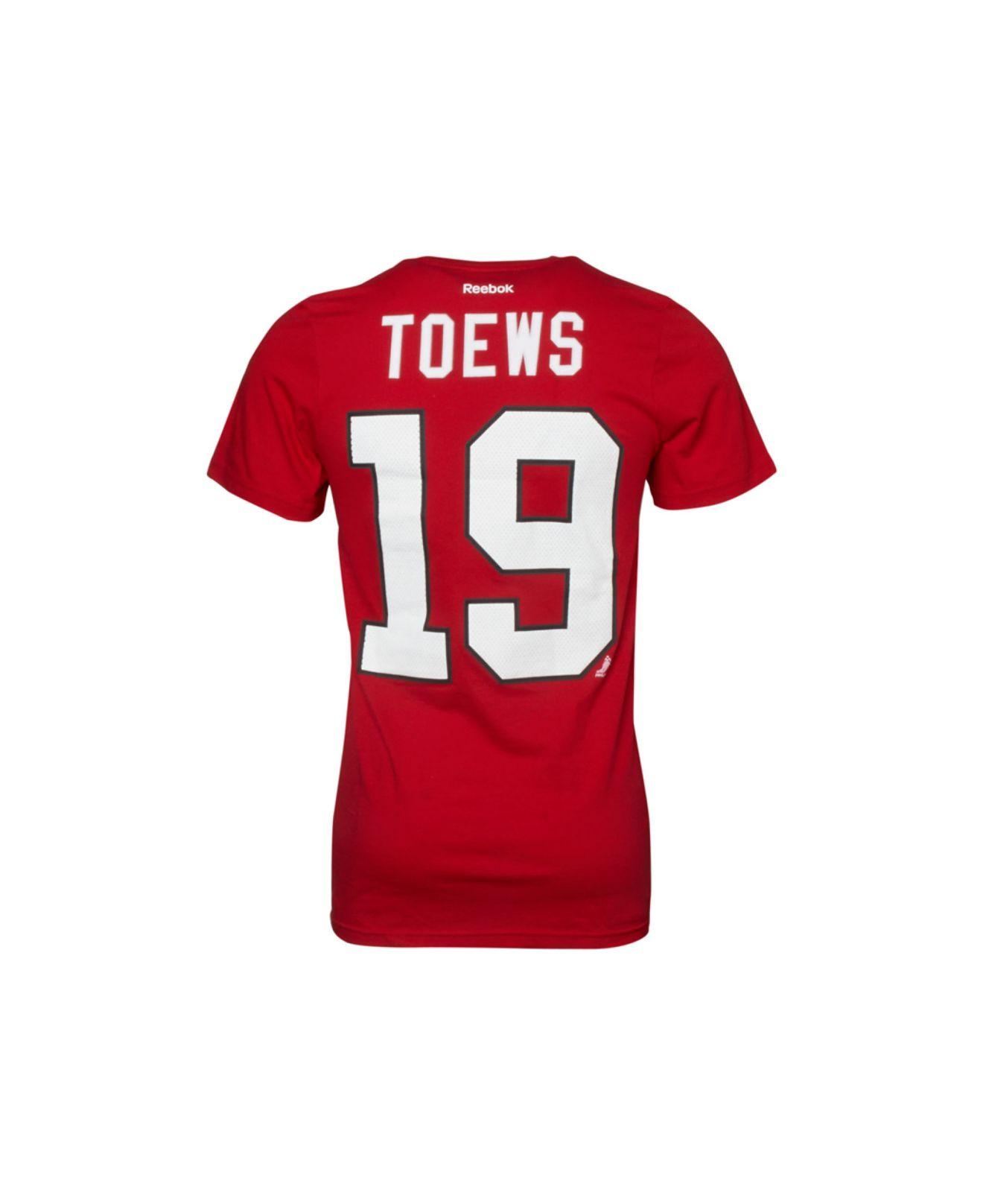 4b65a375f Lyst - Reebok Men s Chicago Blackhawks Jonathan Toews Premier Player ...
