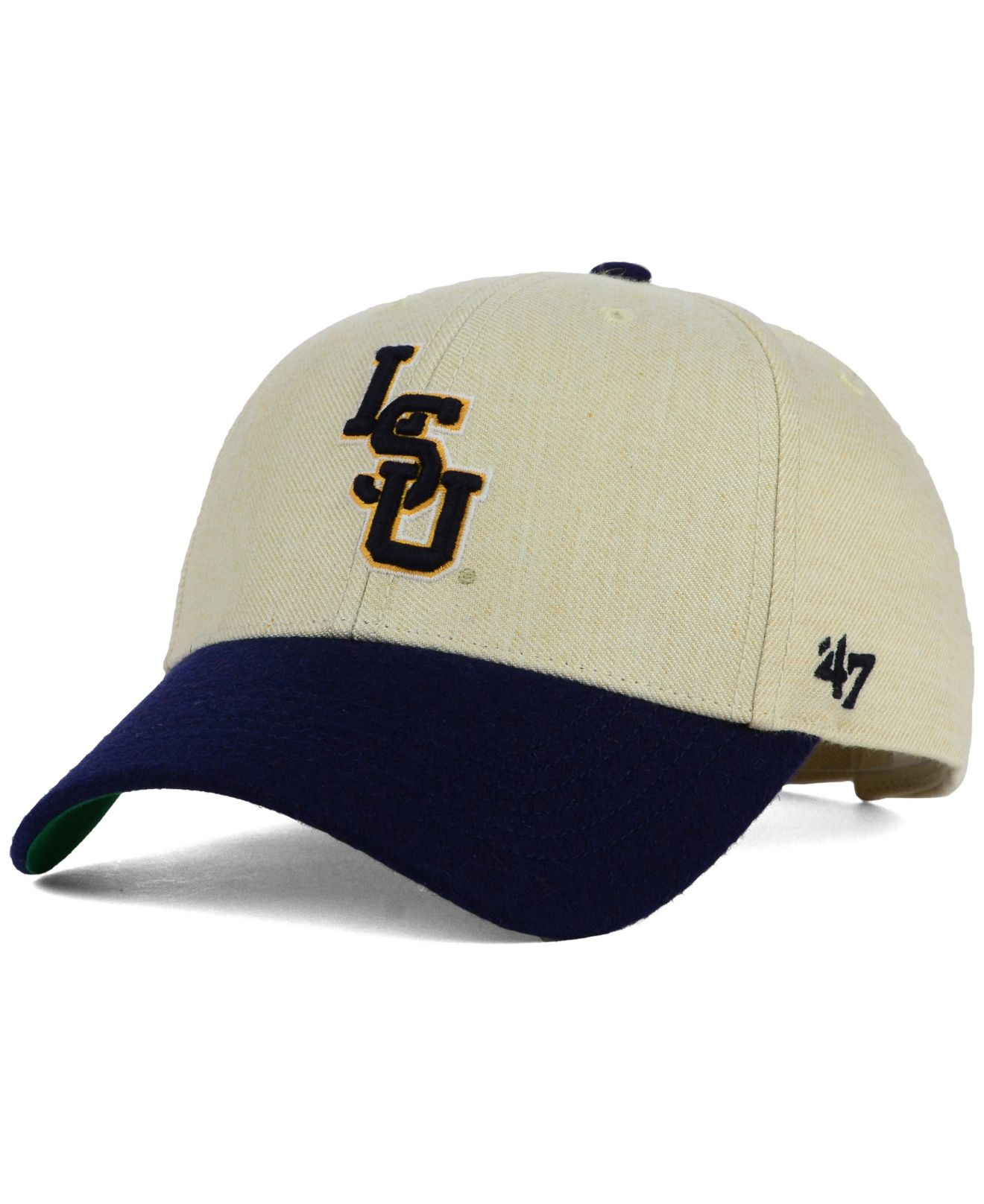low cost 95bc1 7b3ec ... adjustable hat purple ebcf3 6c1e5  where to buy lyst 47 brand lsu  tigers munson mvp cap in natural for men 81ccc