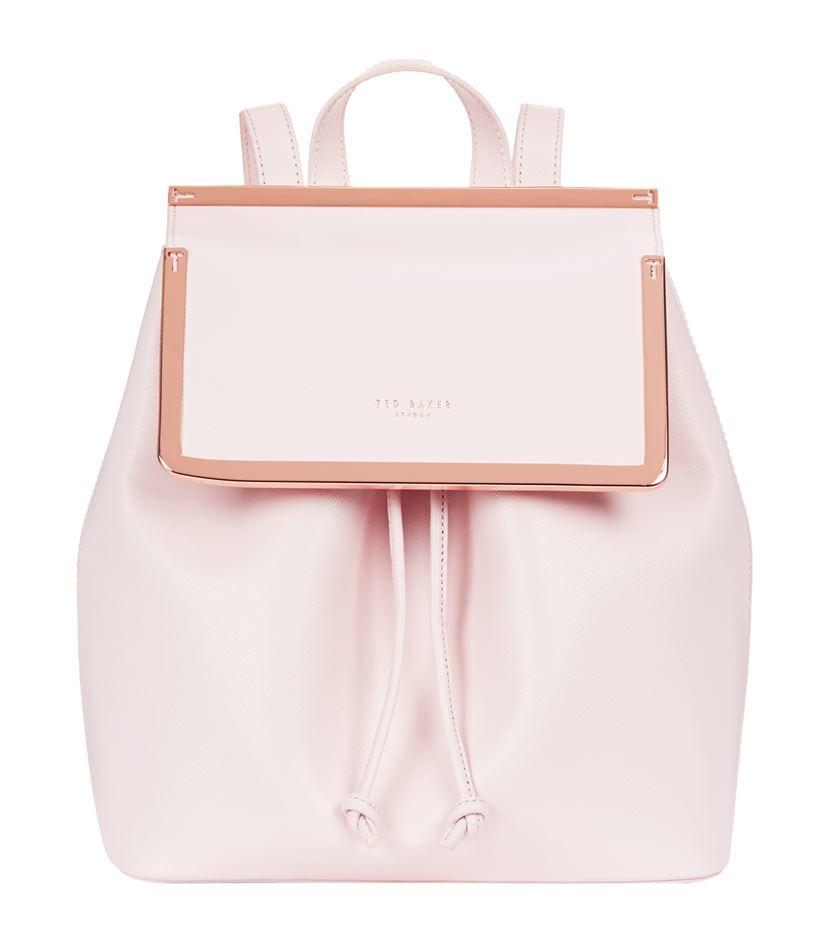 ted baker monise leather backpack in pink lyst. Black Bedroom Furniture Sets. Home Design Ideas