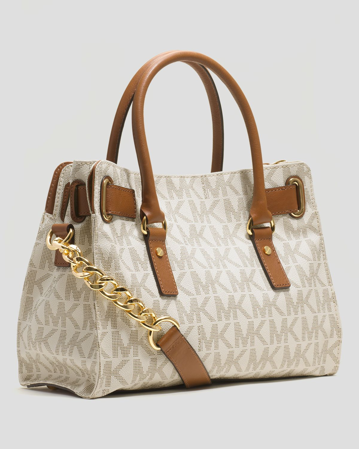 Michael Kors White And Brown Purse Best Image Ccdbb