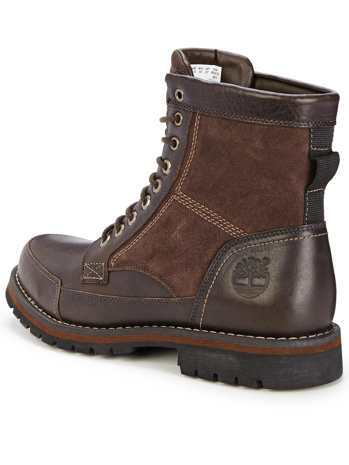 timberland brown larchmont 6 inch boots for lyst