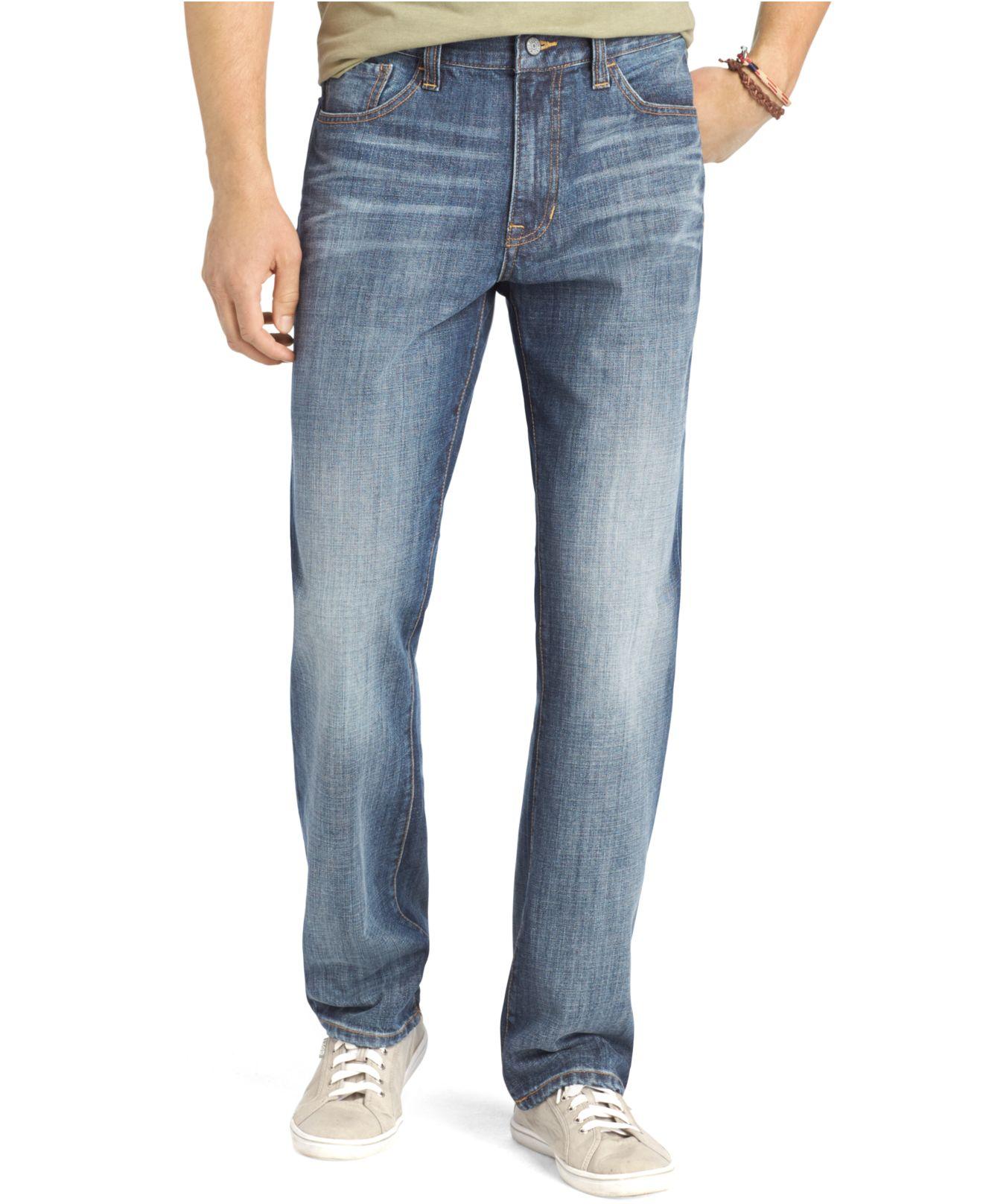 izod relaxed fit jeans in blue for men patriot blue lyst. Black Bedroom Furniture Sets. Home Design Ideas