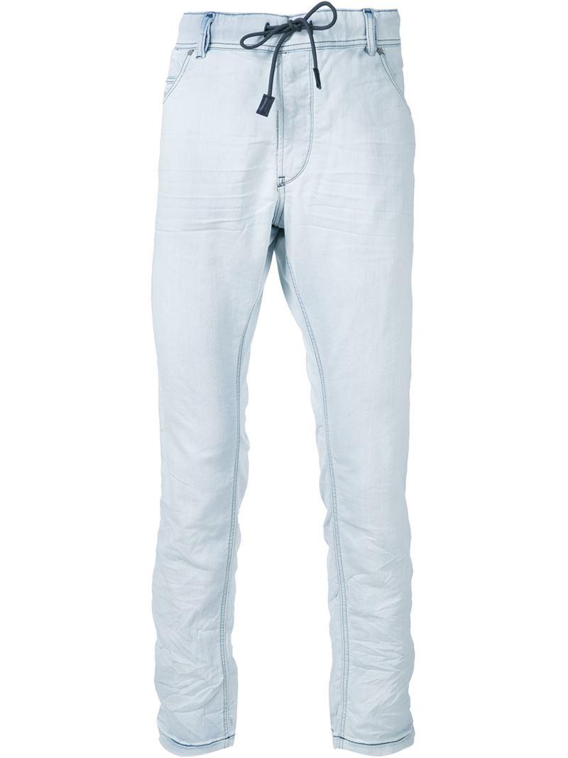 diesel 39 krooley jogg 39 jeans in blue for men lyst. Black Bedroom Furniture Sets. Home Design Ideas