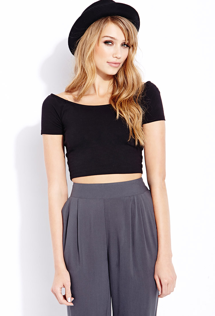 21 Best Images About Sauna And Steam Rooms On Pinterest: Forever 21 Everyday Crop Top In Black