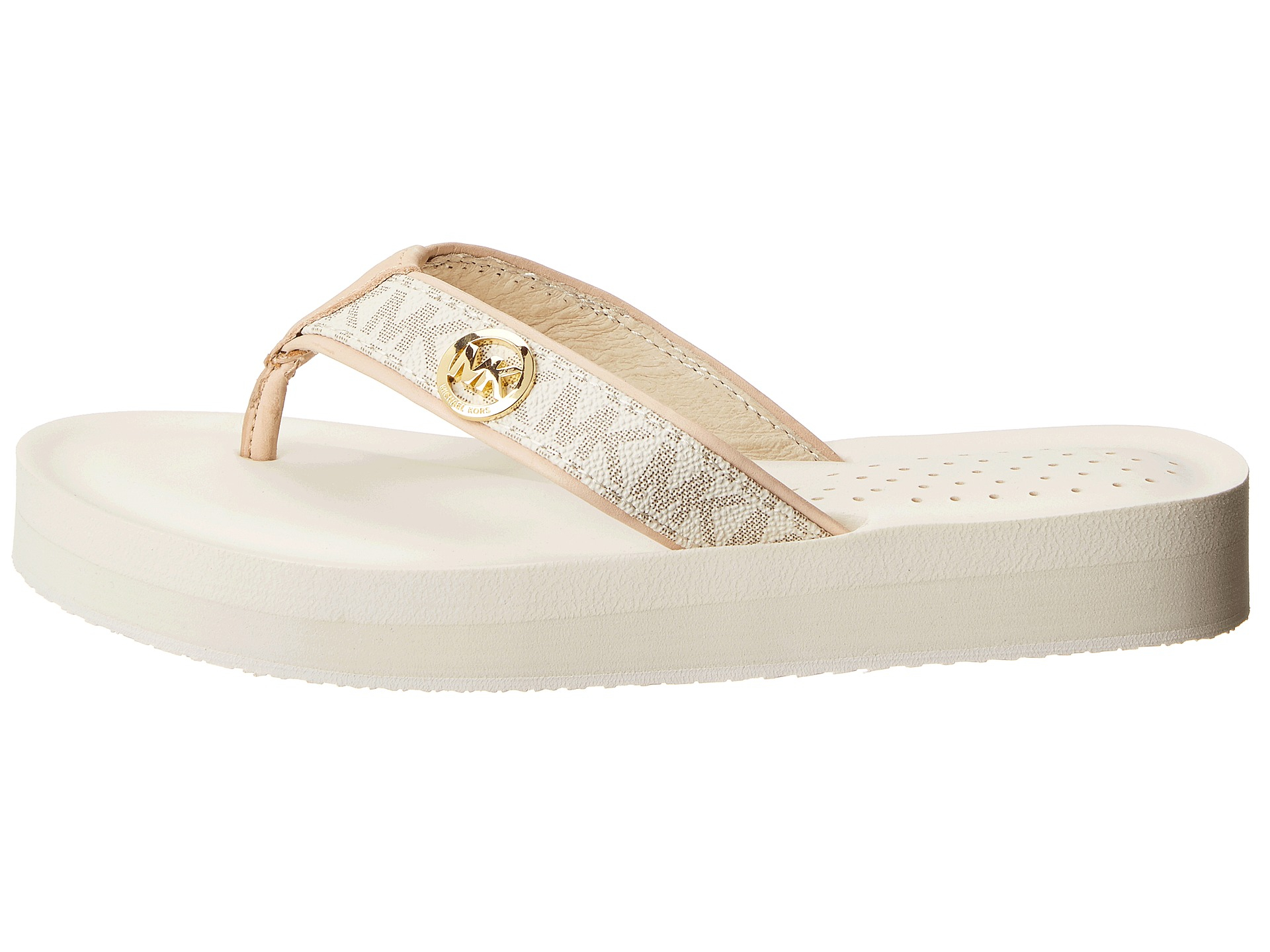 529451aceb77f6 Lyst - MICHAEL Michael Kors Gage Flip Flop in White