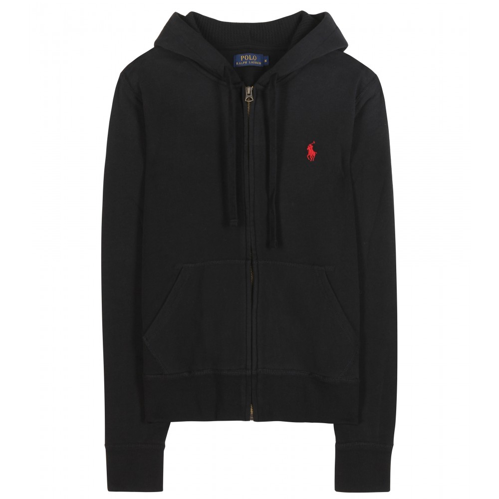 polo ralph lauren martine jersey hoodie in black lyst. Black Bedroom Furniture Sets. Home Design Ideas