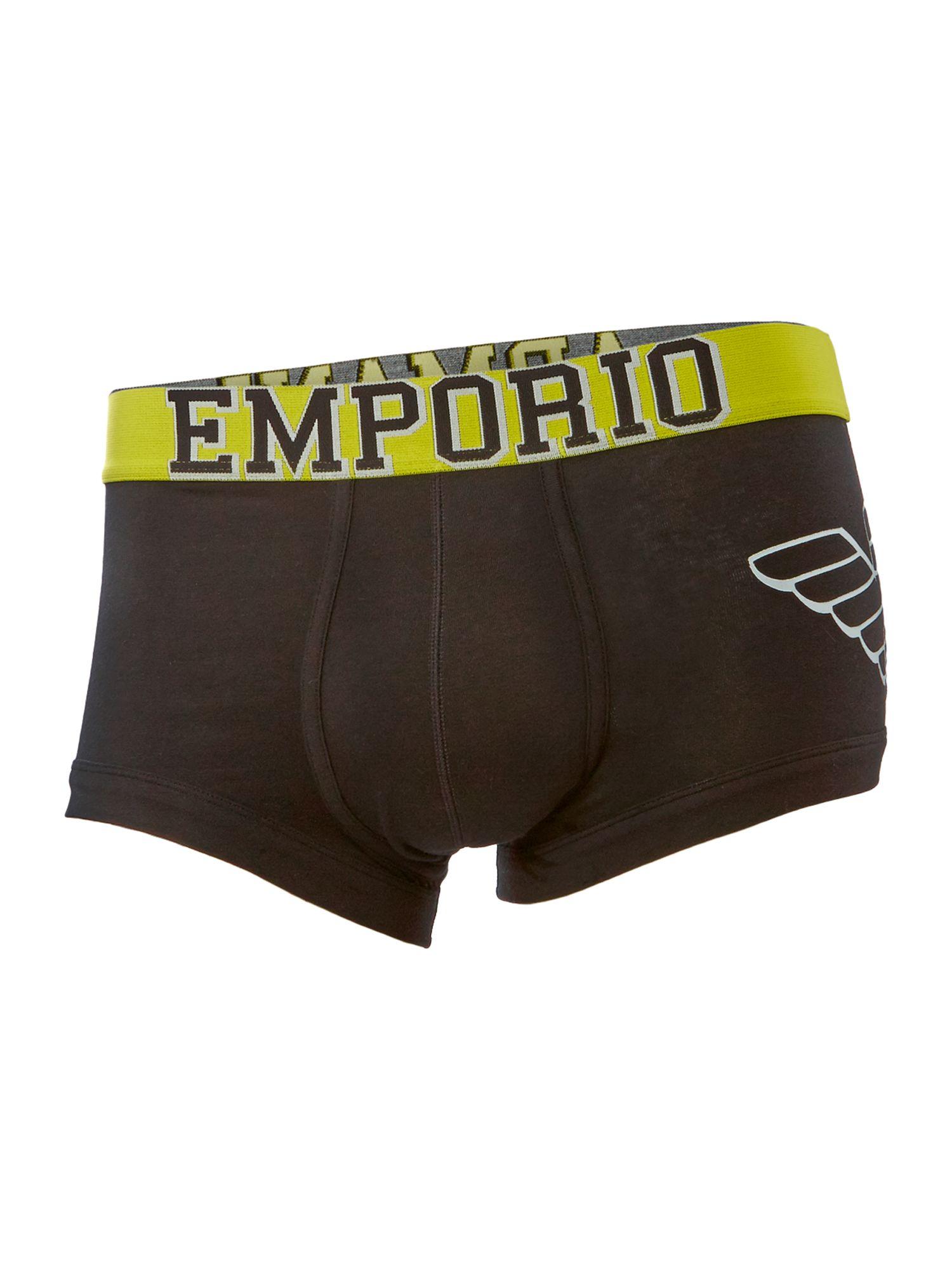 Emporio armani side eagle logo trunk in black for men lyst - Emporio giorgio armani logo ...