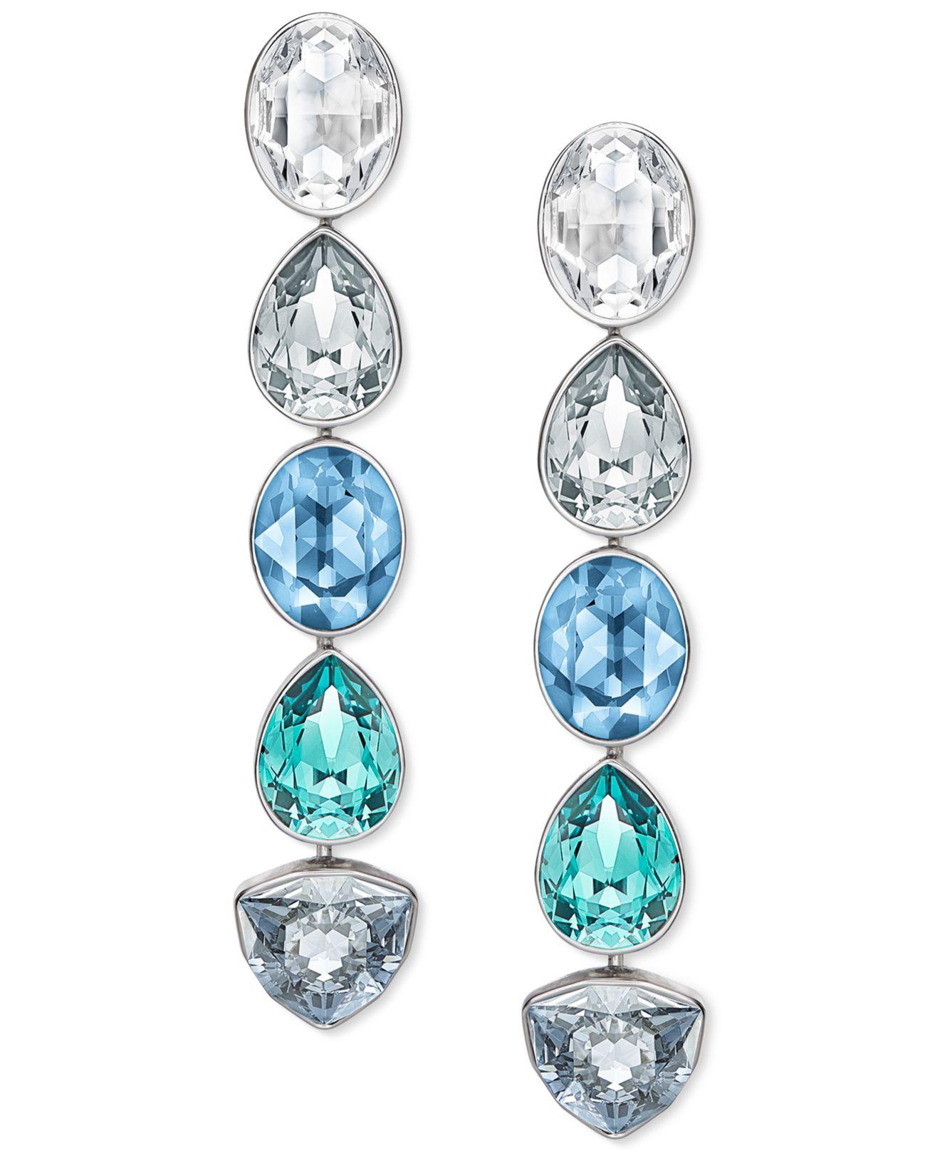 ca6effaf0 Blue Crystal Earrings Swarovski - Best All Earring Photos ...