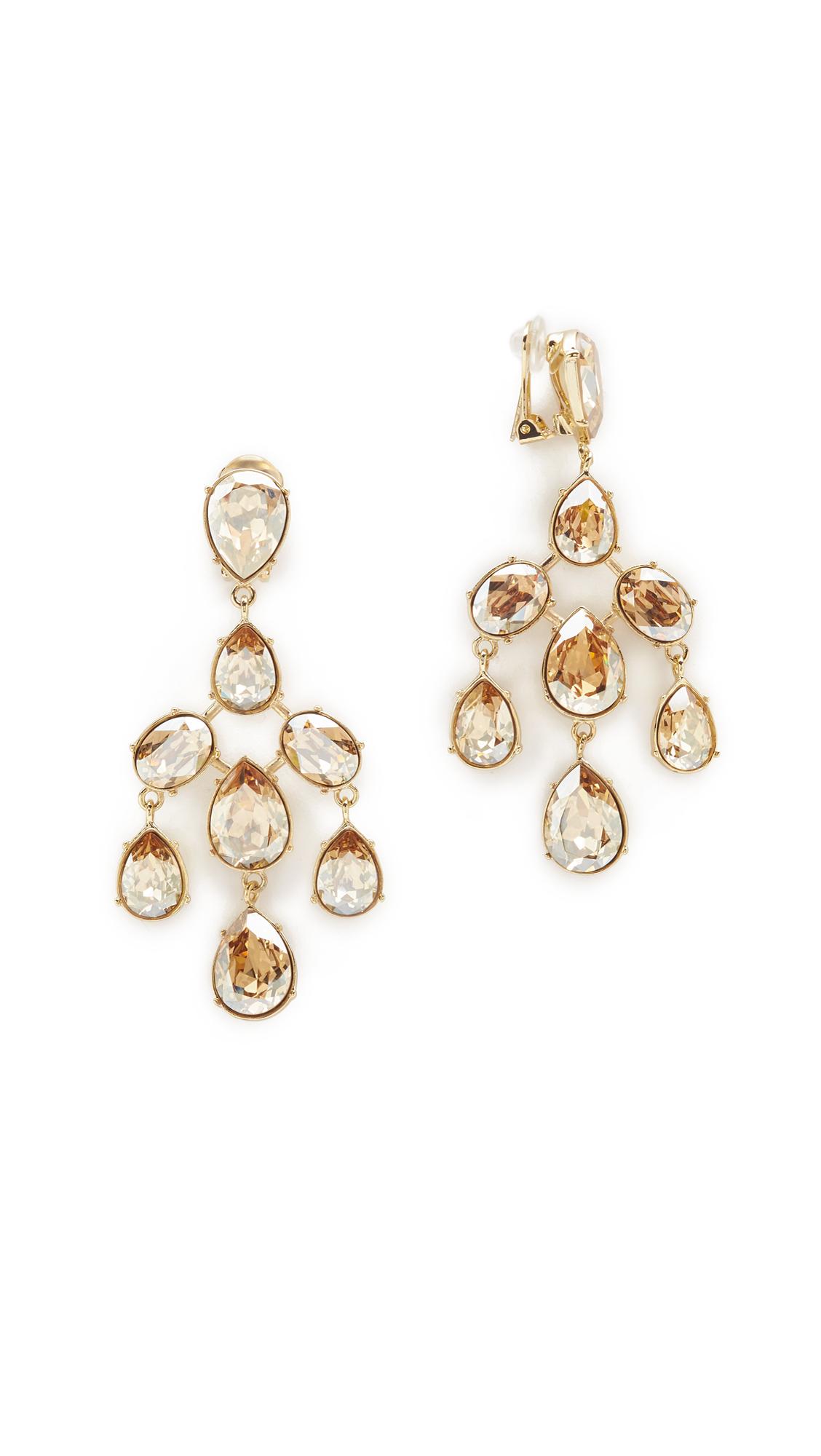 Oscar De La Renta drop crystal clip-on earrings - Metallic NoRDnkXC