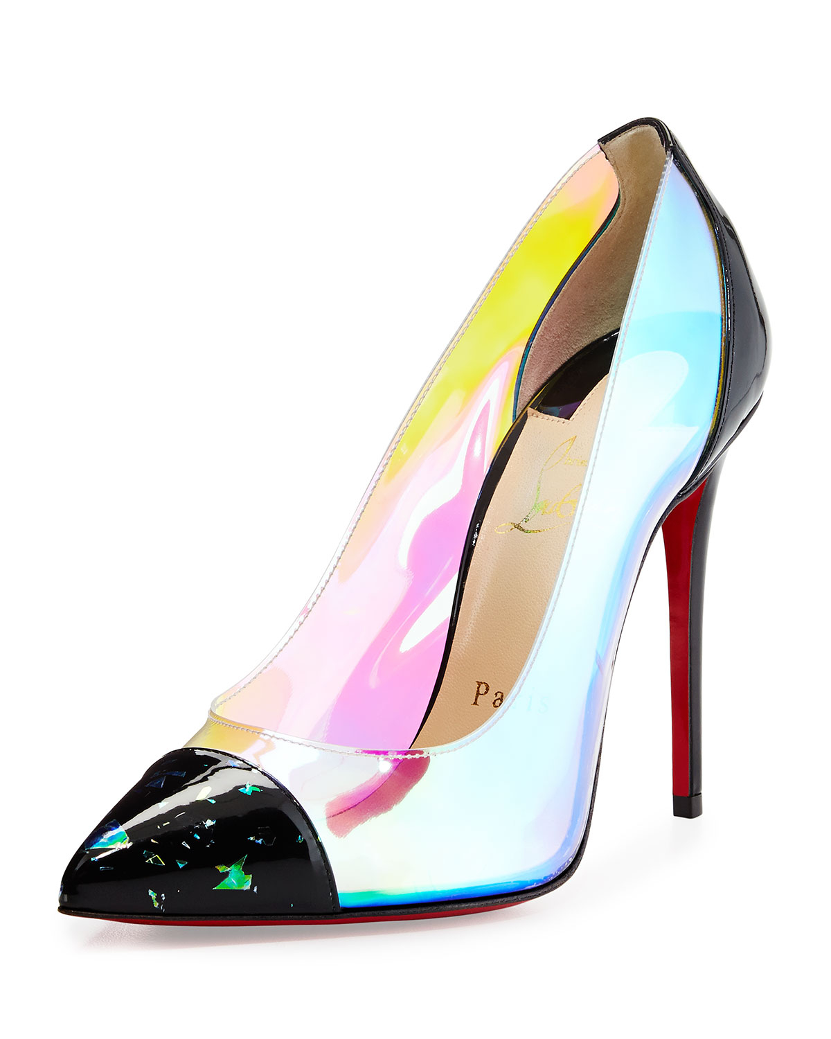 Christian louboutin Debout Disco Pvc Red Sole Pump in Red ...