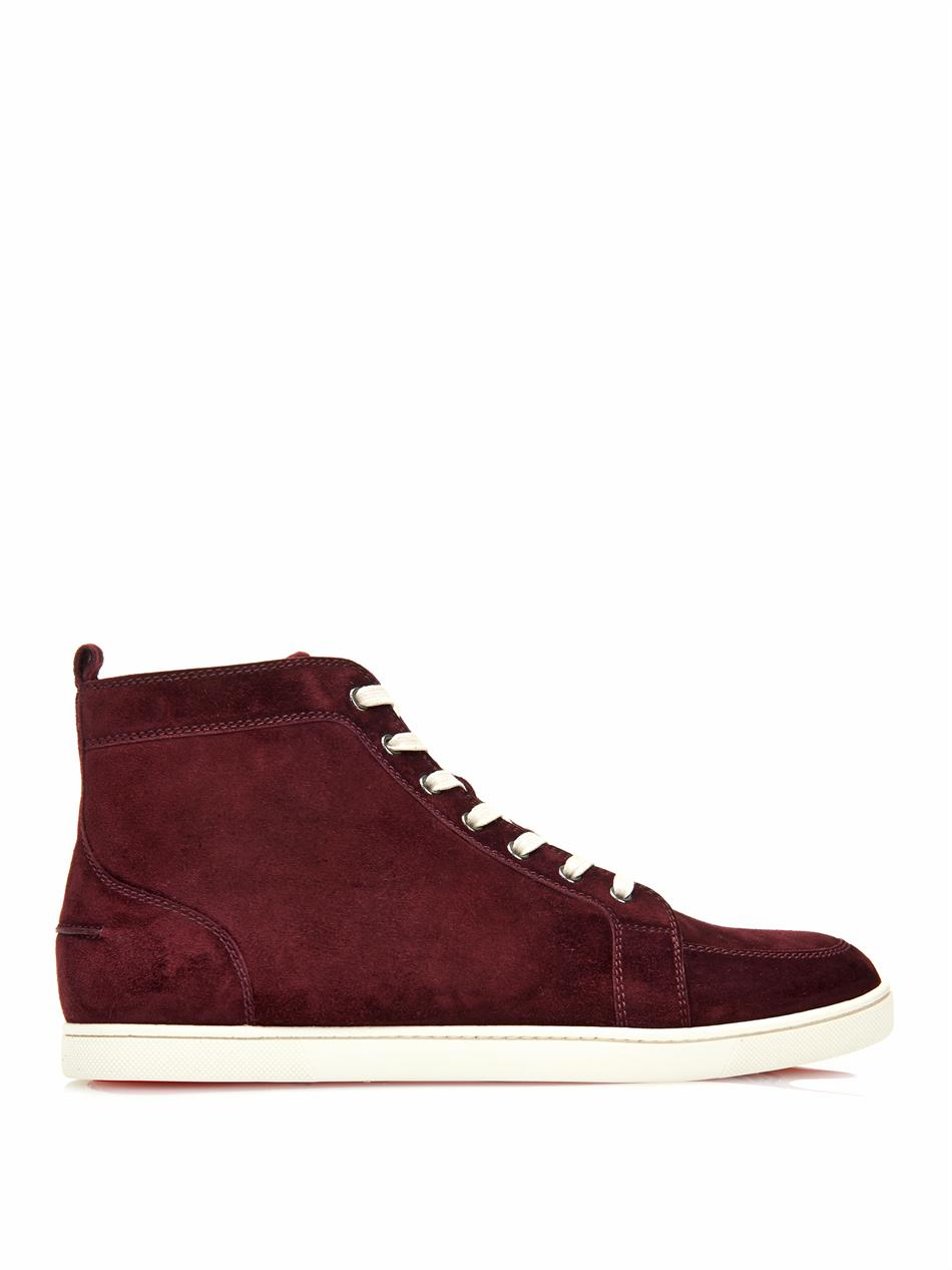 Lyst Christian Louboutin Rantinos High Top Suede