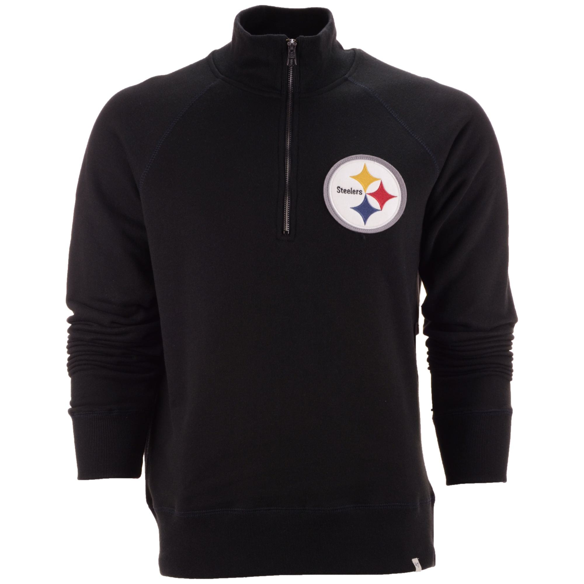 2201992f8 Lyst - 47 Brand Men s Pittsburgh Steelers Half-zip Pullover in Black ...
