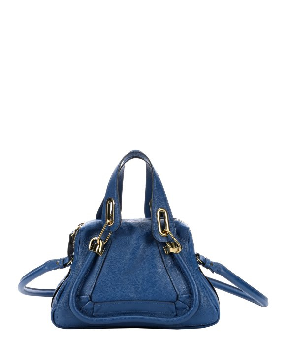 Chlo�� Factory Blue Leather Small \u0026#39;paraty\u0026#39; Convertible Top Handle ...