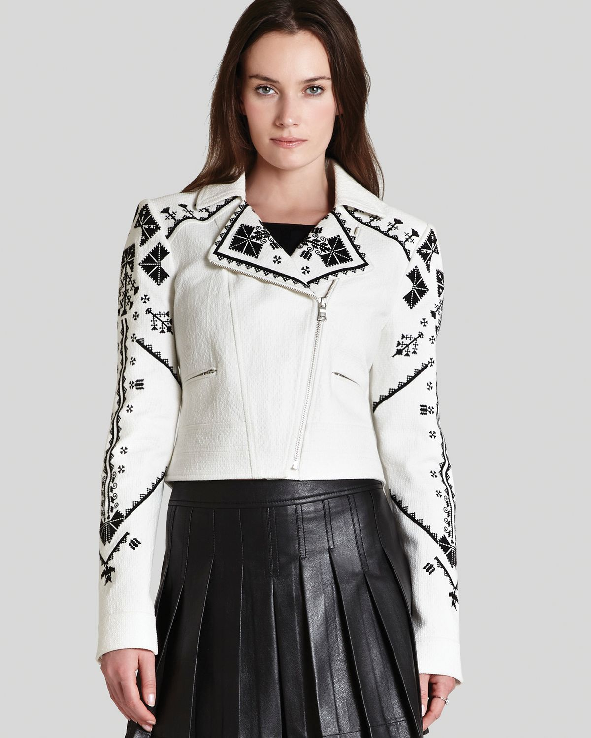 bcbgmaxazria bcbg max azria jacket kade embroidered in