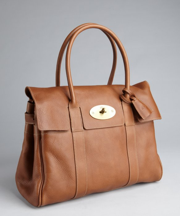 ... where to buy lyst mulberry oak brown leather bayswater top handle bag  in brown 21ebf c019d 9f0c2cc3466b0