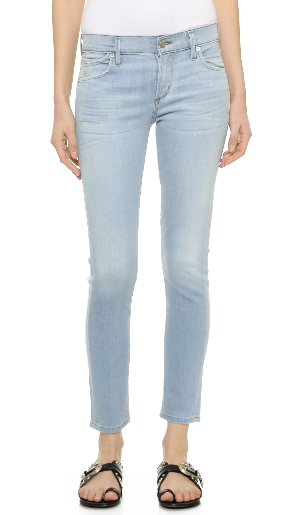 citizens of humanity avedon skinny ankle jeans dusted in. Black Bedroom Furniture Sets. Home Design Ideas