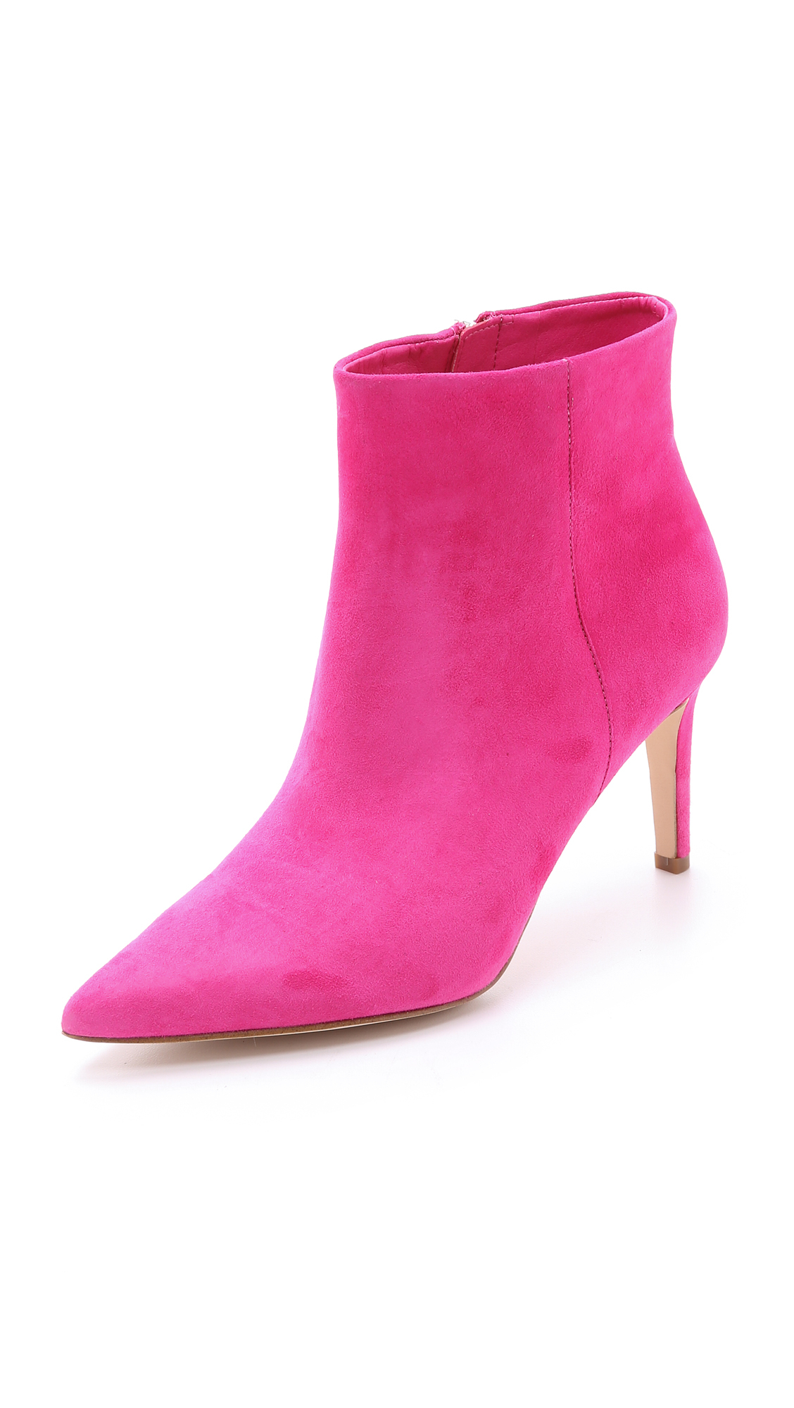 b15f9169ce687f Lyst - Sam Edelman Karen Suede Booties - Candy Pink in Pink