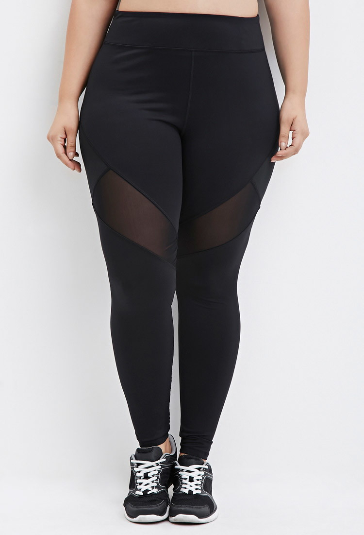 Forever 21 Plus Size Mesh-paneled Athletic Leggings You've Been ...