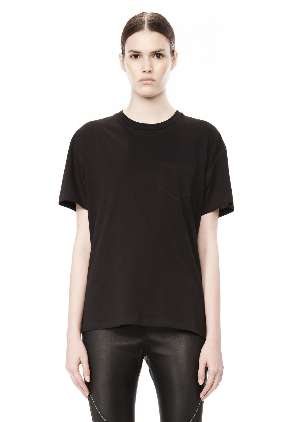 Lyst Alexander Wang Welded Cotton T Shirt In Black