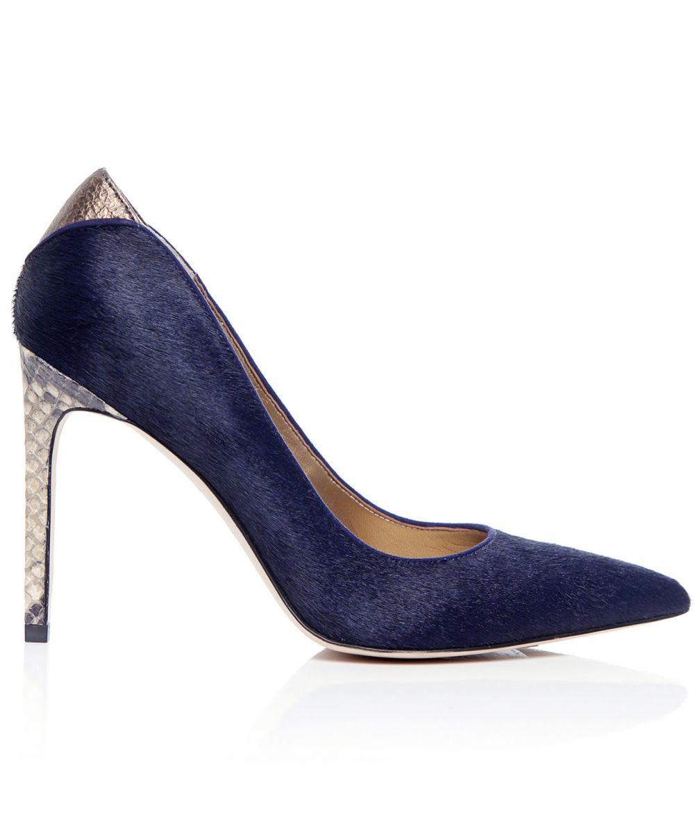 a0ad4e5aeec Lyst - Sam Edelman Dea Pony Hair Heel in Blue