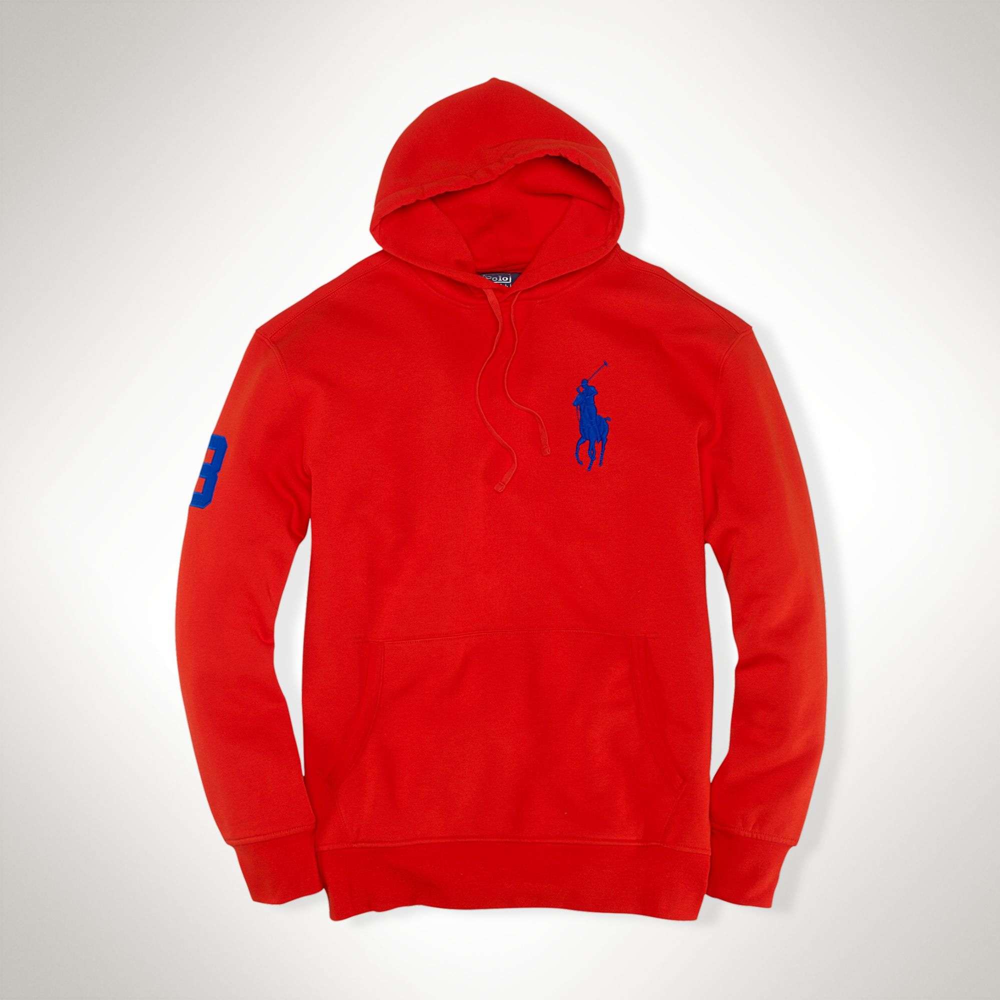 polo ralph lauren playa fleece hoodie in red for men lyst. Black Bedroom Furniture Sets. Home Design Ideas