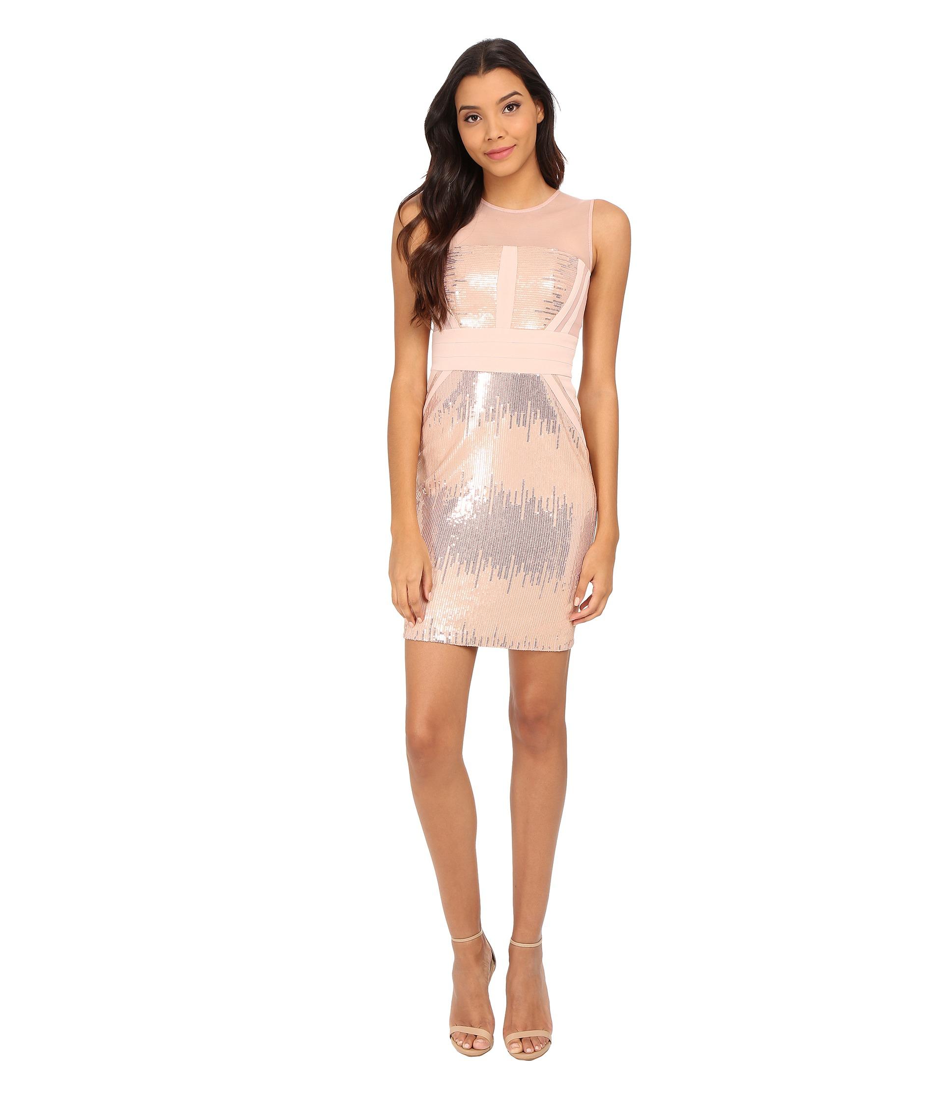 Calvin klein Sequin Sheath Dress in Pink  Lyst