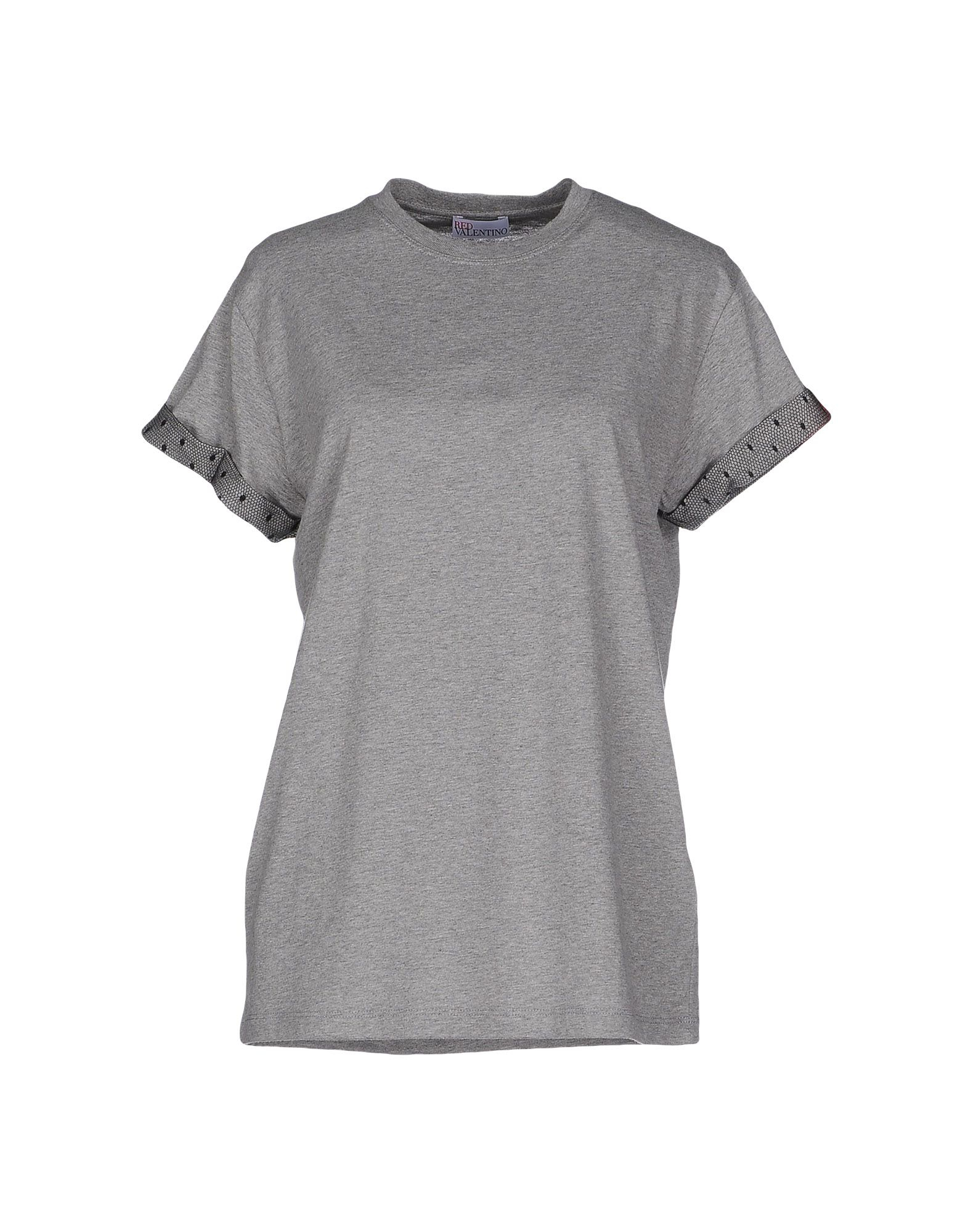 Red valentino t shirt in gray grey lyst for Red valentino t shirt