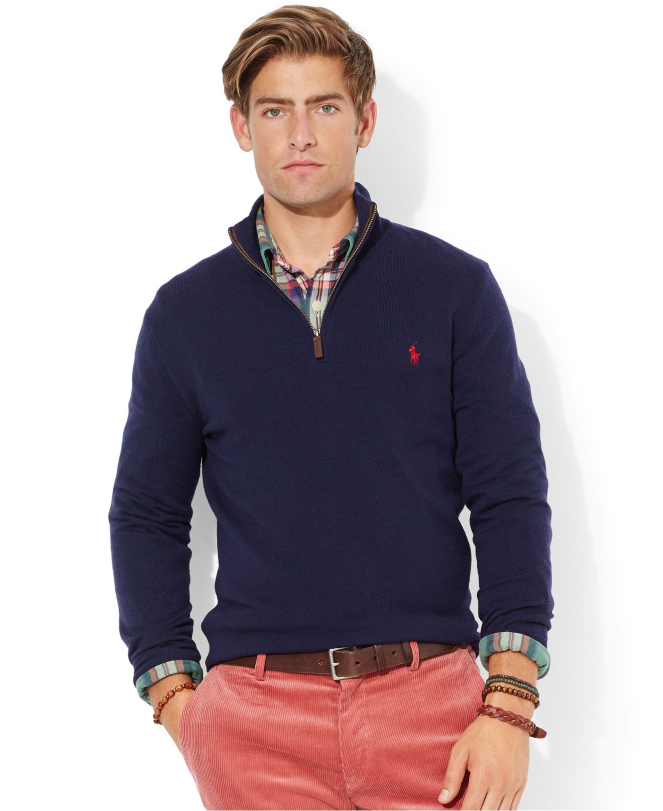 Polo Ralph Lauren | Blue Merino Wool Half-Zip Sweater for Men | Lyst. View Fullscreen
