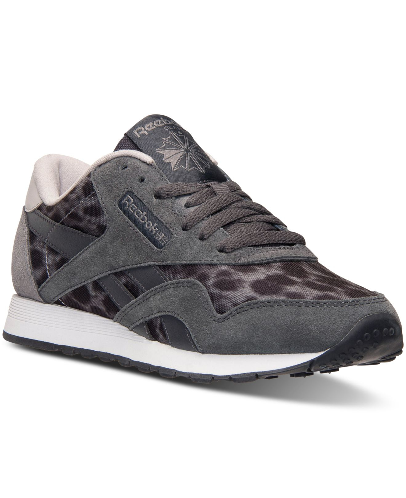 54df77a5a1b2 Lyst - Reebok Women s Classic Nylon Wild Casual Sneakers From Finish ...