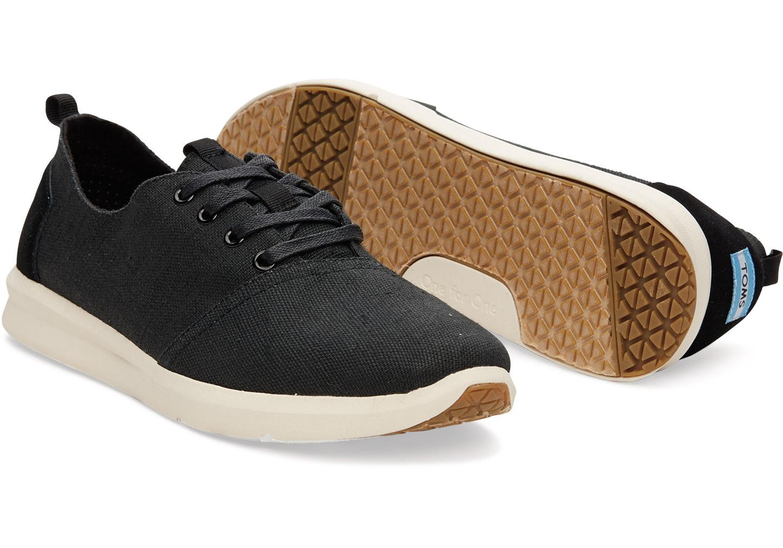 Toms Black Burlap Mens Del Rey Sneakers In For Men