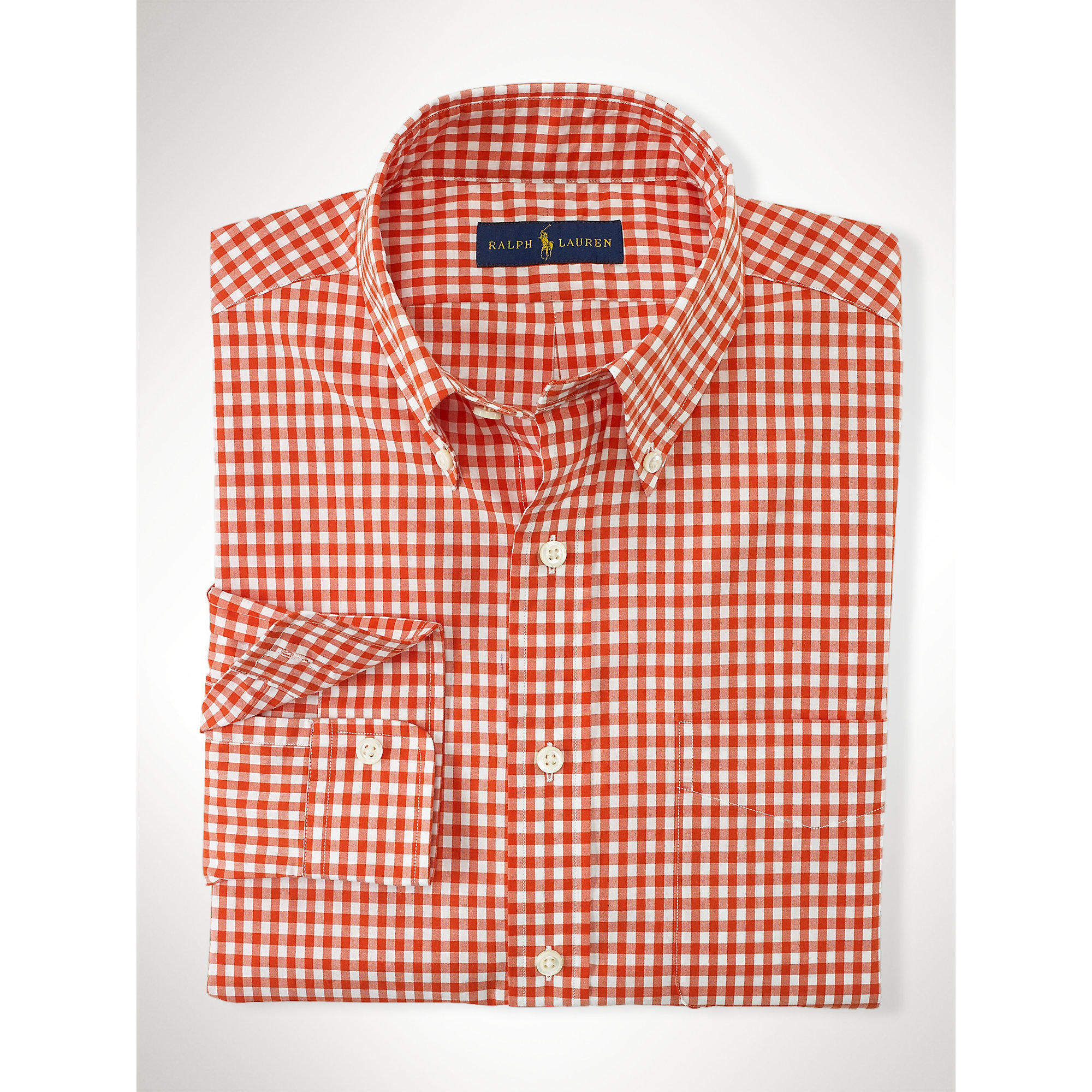 Lyst Polo Ralph Lauren Gingham Cotton Poplin Shirt In