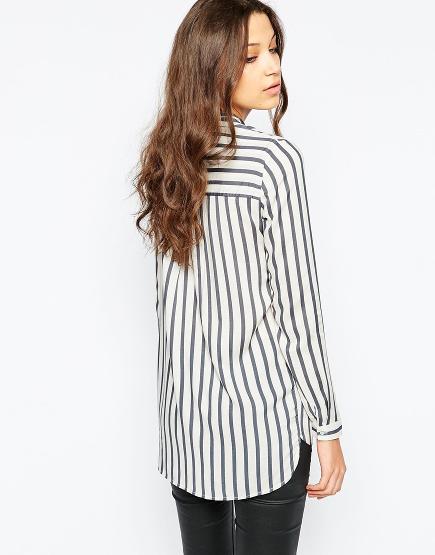 3c979c358522d5 Y.A.S Woven Striped Blouse in White - Lyst