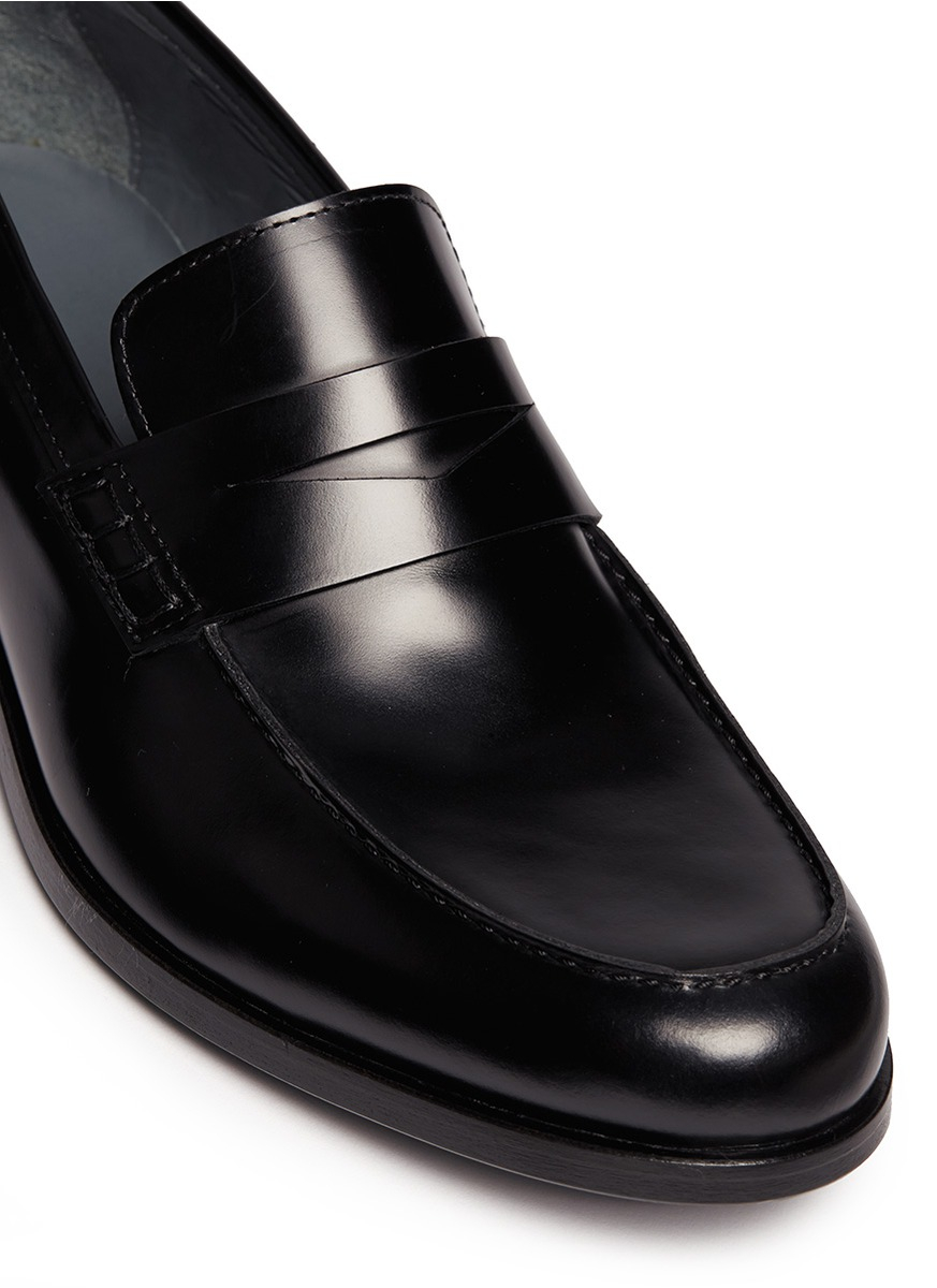 Lyst - Lanvin Classic Leather Penny Loafers in Black for Men