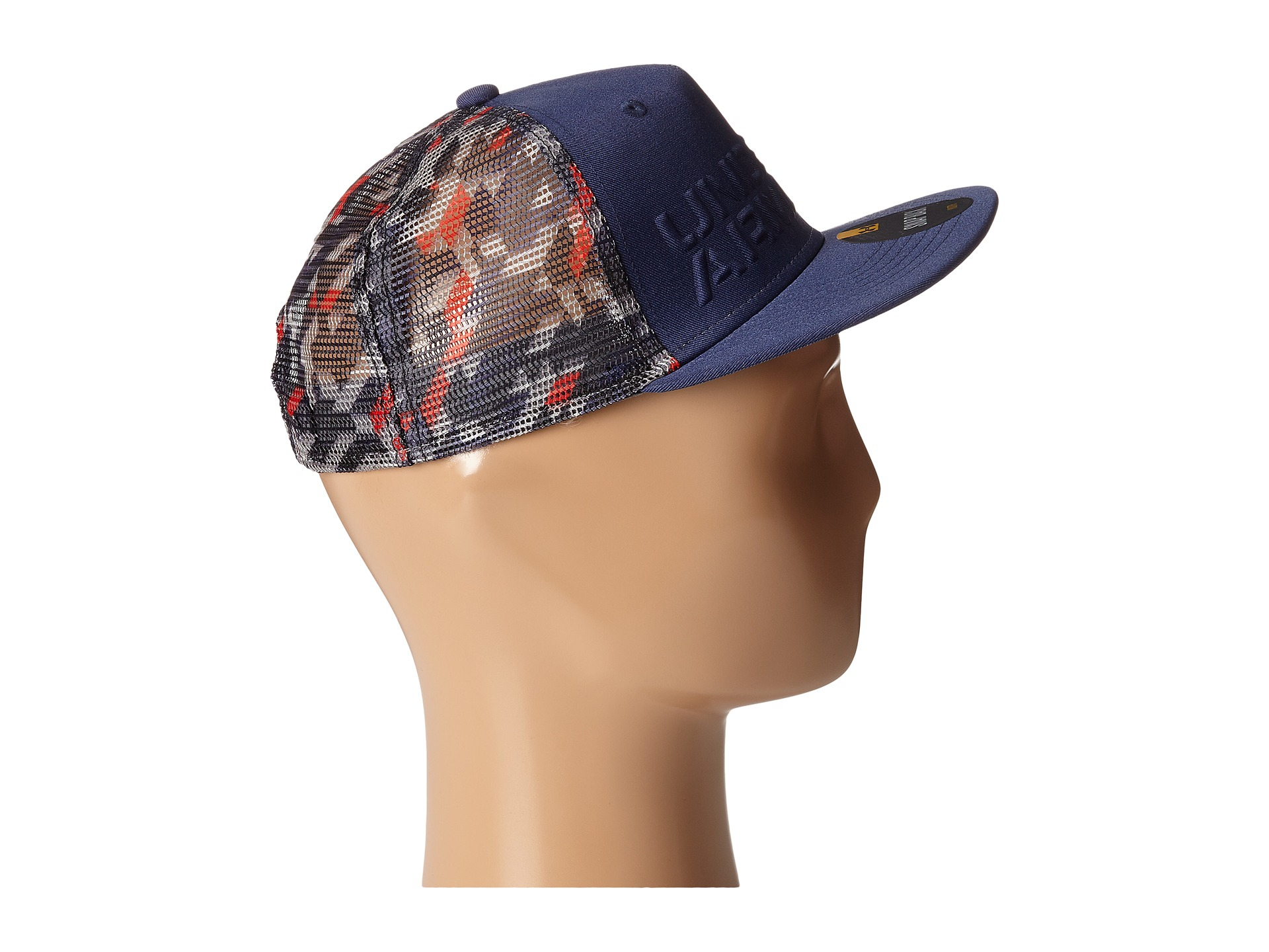 the latest 86695 6b1ab ... coupon for lyst under armour ua trucker mesh snapback cap youth in blue  for men 07bba