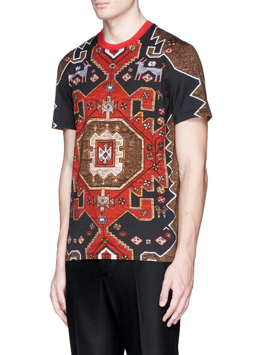 Givenchy Persian Print T Shirt In Red For Men Lyst