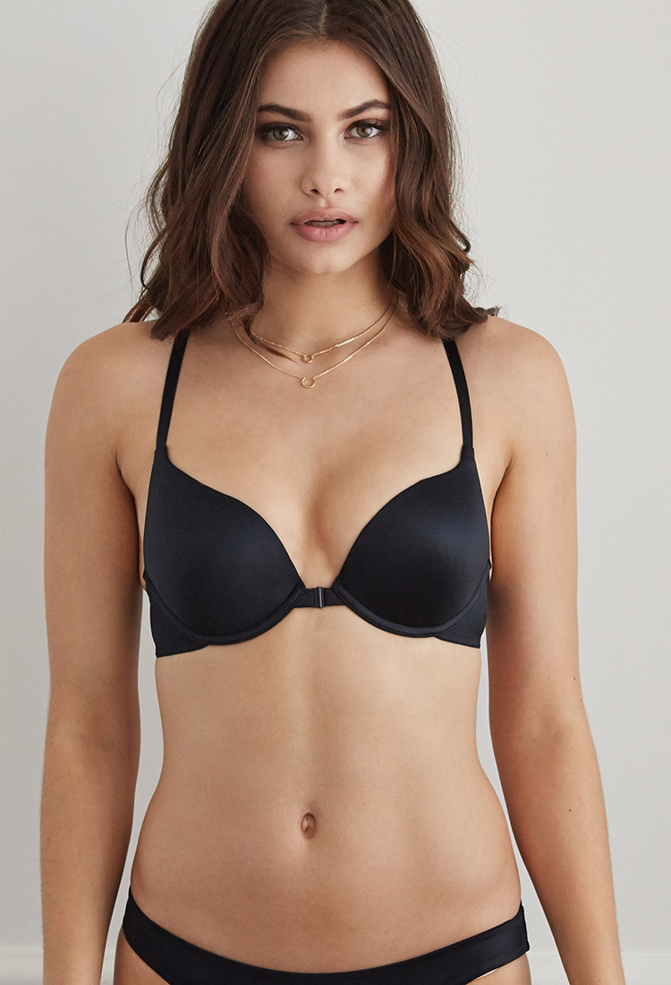 Forever 21 Strappy Crisscross Push-up Bra in Black | Lyst