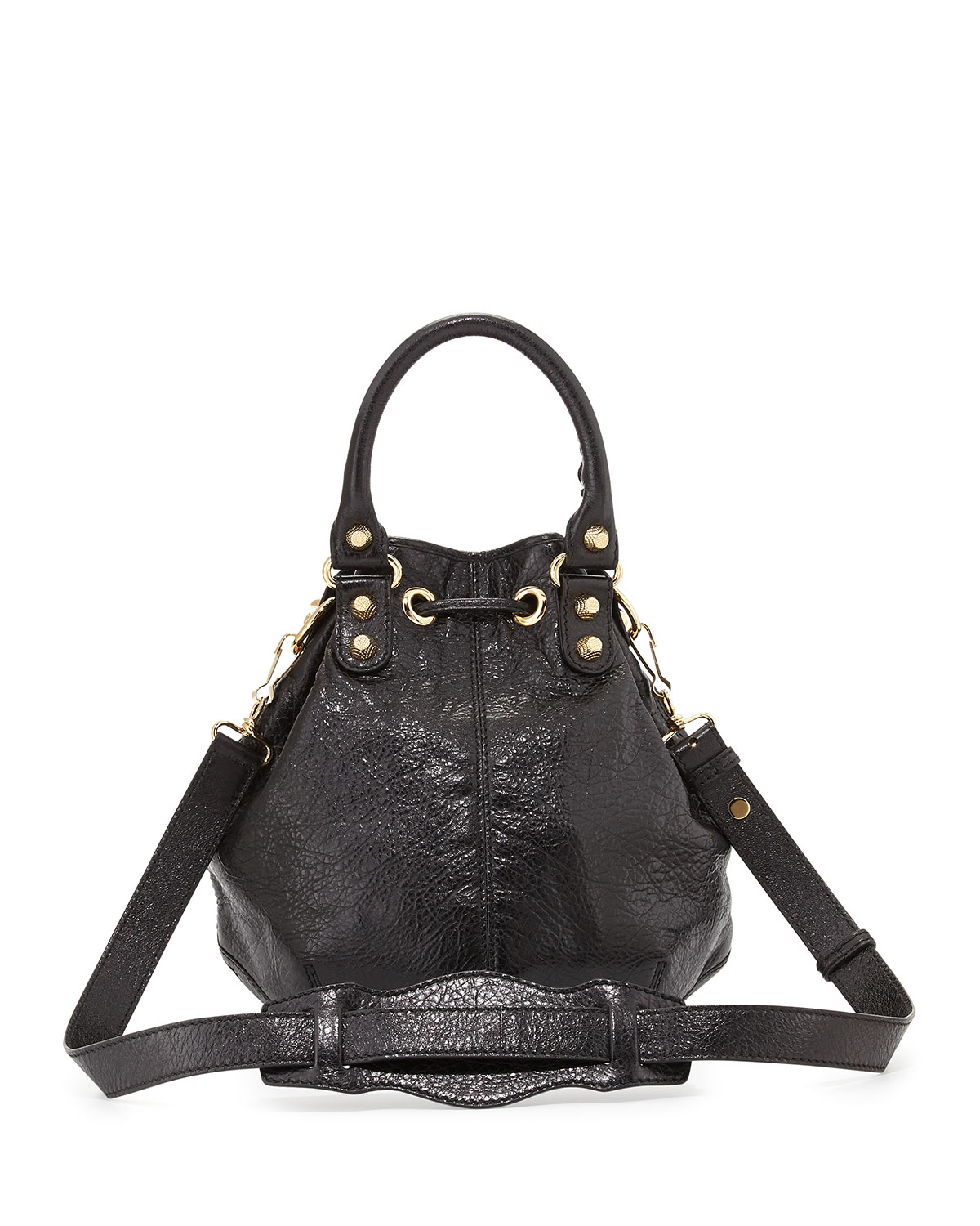 c0ef06e38e Lyst - Balenciaga Giant 12 Golden Mini Pompon Bag in Black