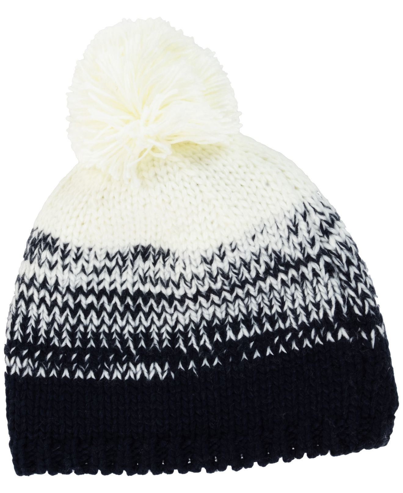 Women's Tennessee Titans New Era Navy Polar Dust Uncuffed Knit Beanie with Pom