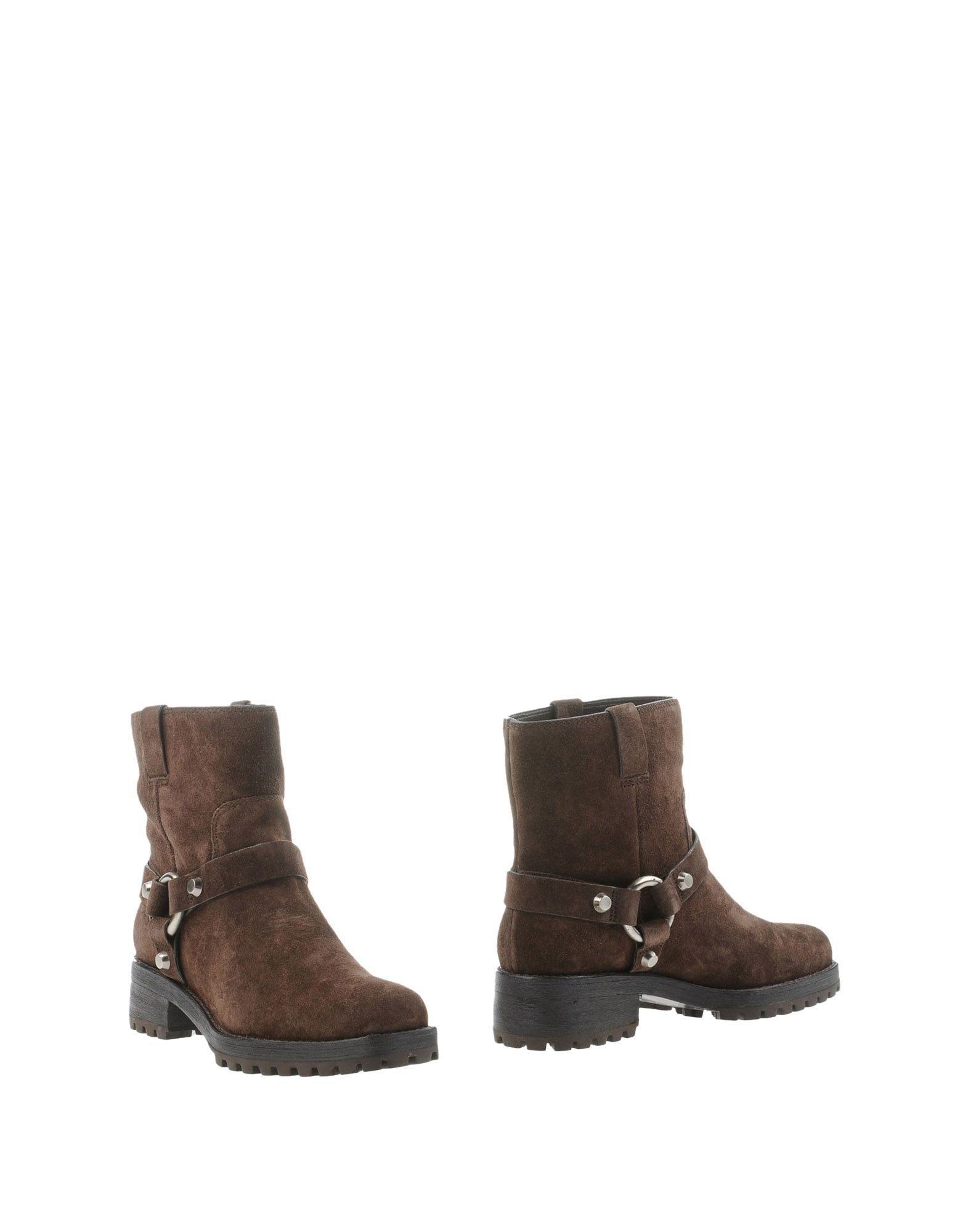 michael kors ankle boots in brown lyst