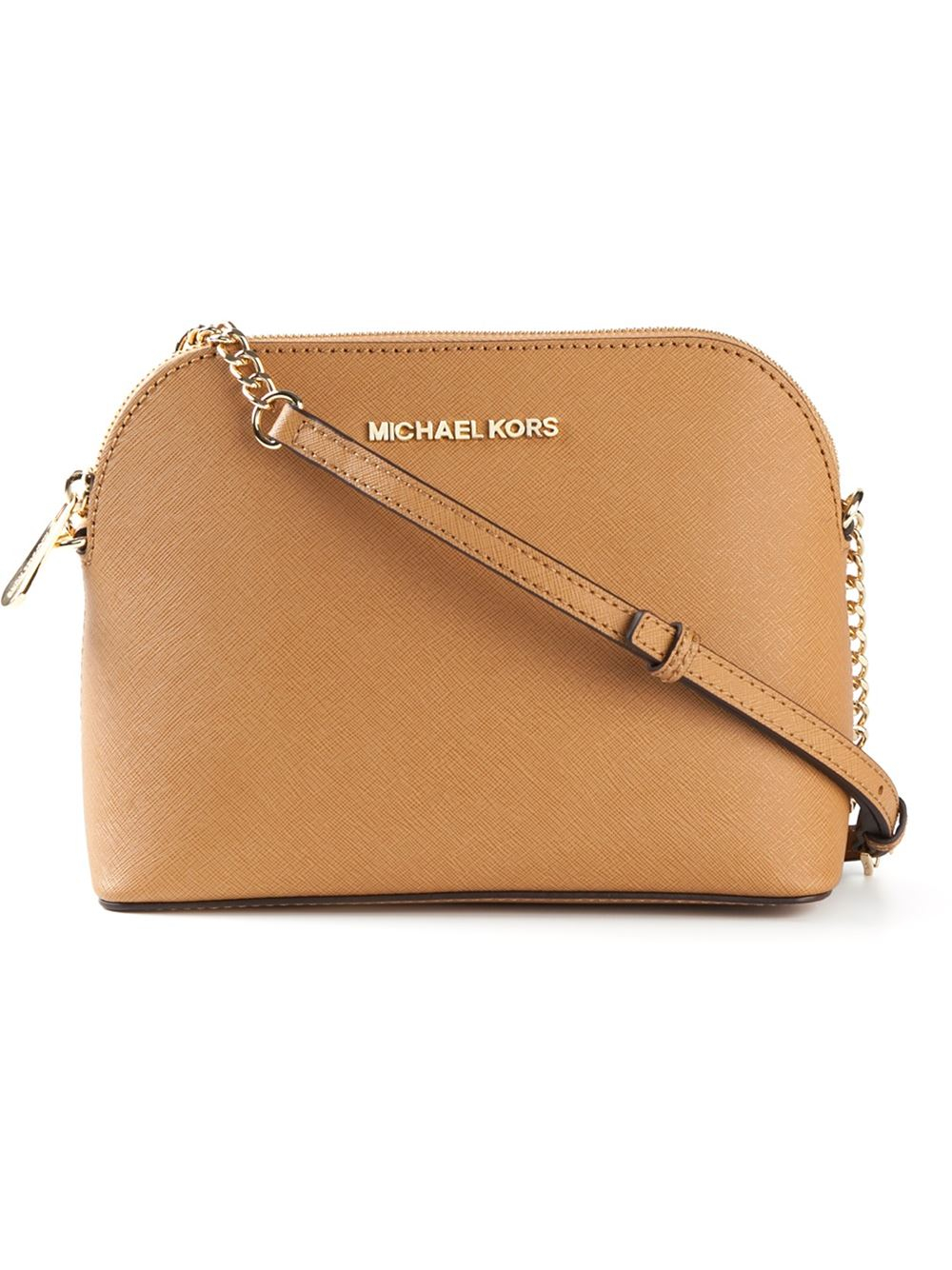 94f70027e571 Michael Kors Cindy Large Cross-Body Bag in Brown - Lyst