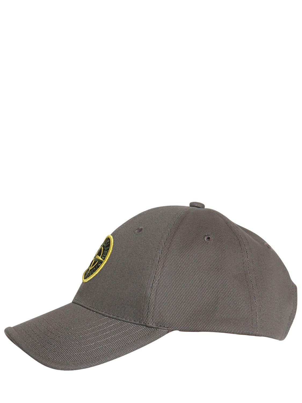 Stone Island Cotton Gabardine Baseball Cap in Gray for Men - Lyst 839cb9eda9bc