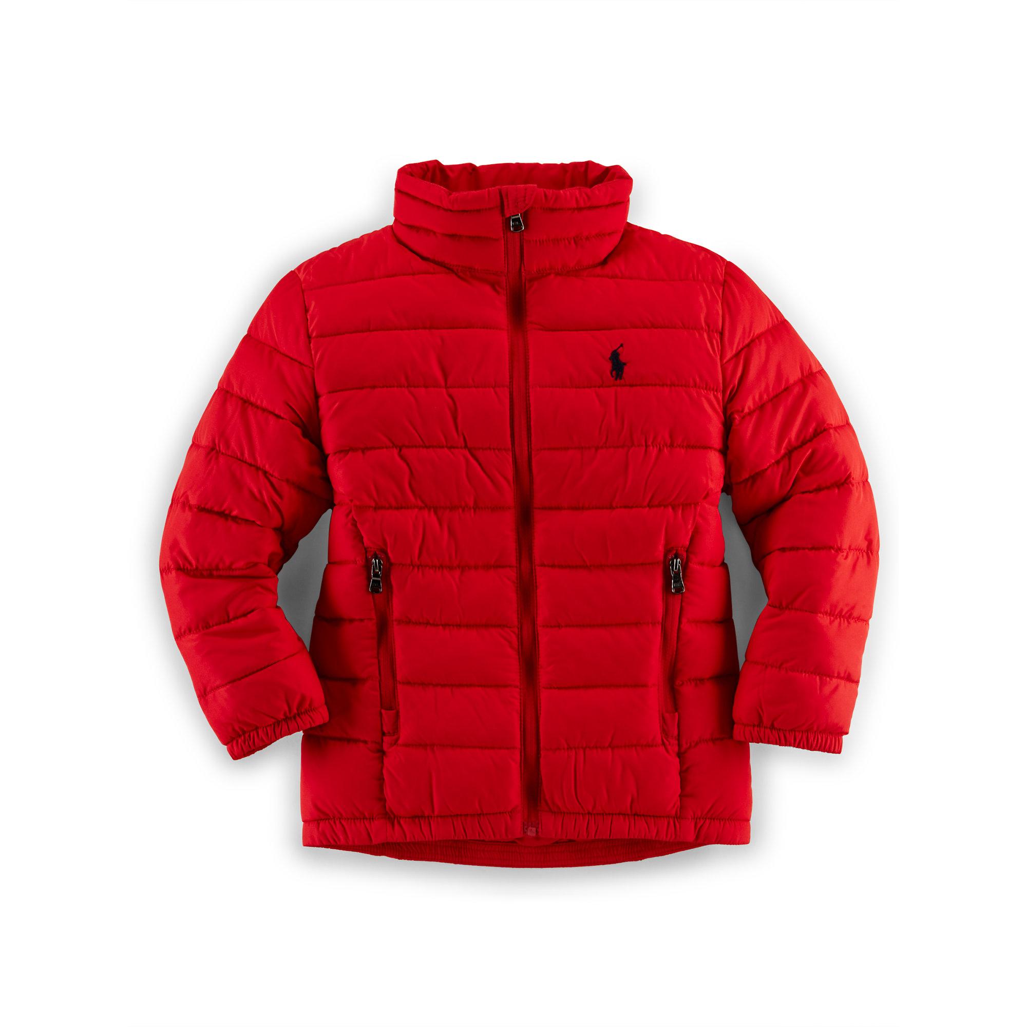 ralph lauren lightweight puffer jacket in red lyst. Black Bedroom Furniture Sets. Home Design Ideas